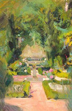 Jardín de la casa de Sorolla (Sorolla's Garden) - Joaquin Sorolla i Bastida 1863