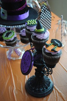 Witch fondant toppers by Edible Details