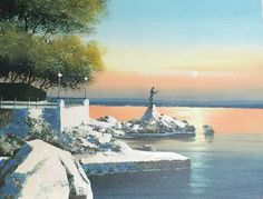 Opatija /Crotia on painting