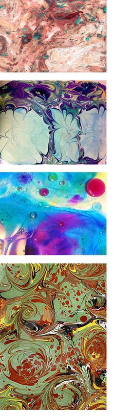 "Rediscover Suminagashi: An Ancient Japanese Painting Technique    Suminagashi, which literally means ""ink floating"" is an ancient Japanese technique of painting on water. The ink or paint is then transferred to paper or another absorbent material and allowed to dry. This technique is often referred to as ""marbling"", as well as Ebru. These days, you can use inks, acrylics, oils, and even nail polish with this painting technique to create truly interesting and unexpected results!"