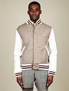 Thom Browne Men's Letterman Jacket
