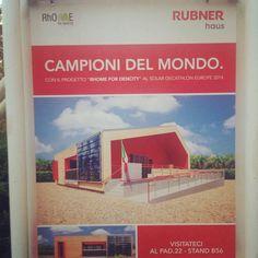 Quest' anno al #Saie2014 presentiamo la casa #RhoME che è' campione del mondo del Solar Decathlon 2014.