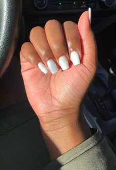 How to choose your fake nails? - My Nails Work Nails, Aycrlic Nails, Coffin Nails, Cute Nails, Hair And Nails, Oval Nails, Short Square Acrylic Nails, Best Acrylic Nails, Short Square Nails