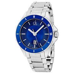 Calvin Klein Men's K2W21Z4N 'Play' Blue Dial Swiss Quartz Watch