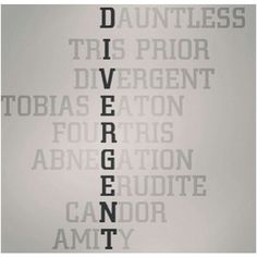 Lorna McRitchie ❤ liked on Polyvore featuring divergent, phrase, quotes, saying and text
