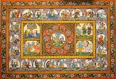 Pattachitra, a traditional cloth-based scroll painting, originated from Odissa. The unique paintings are made from natural colours composed of earth, vegetable, and minerals. Durga Painting, Indian Folk Art, Unique Paintings, Adventure Activities, Traditional Paintings, Adventure Travel, Tourism, Culture, Color