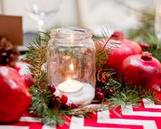 christmas table decoration - Google Search
