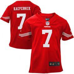 fe075aefb Preschool San Francisco 49ers Colin Kaepernick Nike Scarlet Game Jersey.  RaidersToddler ...