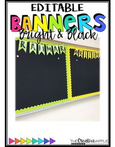 These Bright & Black Editable Banners are the great addition to your classroom decor! Basic subjects are already included, or you can customize the text. Just print, laminate, cut, & enjoy!