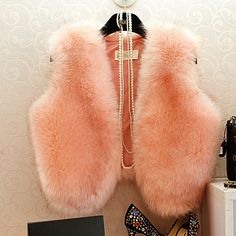 $13.30 2015 winter new imitation rabbit fur coat fox fur short paragraph Miss Ma Jia waistcoat fur vest