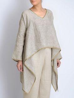 Asymmetrical Linen Top