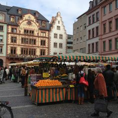 Farmers Market Wiesbaden Germany!!  I've visited many farmers' markets, this was especially captivating...definitely the remarkable white asparagus, that was large, yet melt in my mouth...savory!
