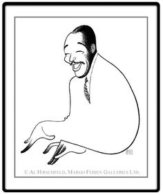 "Duke Ellington  Hand signed by Al Hirschfeld  Limited-Edition Lithograph  Edition Size: 100.  20"" x 16"""