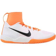 hot sales 46db3 b5f1a NIKE, Serena williams flare tennis sneakers, White orange, Luisaviaroma -  Mesh upper with stretchy collar. Back pull loop. Rubber sole extends over  toe .