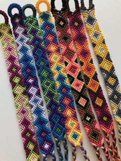 Excited to share this item from my shop: 6 Color Fading Diamond Friendship Bracelet Tribal Bracelets, Woven Bracelets, Cute Bracelets, Colorful Bracelets, Handmade Bracelets, Floss Bracelets, String Bracelets, Ankle Bracelets, Diamond Friendship Bracelet