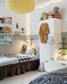 Peek Inside a Cozy Family Home in Stockholm With a Seamless Mix of High and Low Decor - NordicDesign Girls Bedroom, Bedroom Decor, Childs Bedroom, Kid Bedrooms, Nursery Decor, Ideas Habitaciones, Childrens Room Decor, Kids Room Design, Deco Design