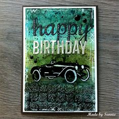 Made by Sannie: Road Trip Birthday card with video tutorial - #sssmchallenge