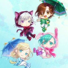 Quartet Night Chibi Animals