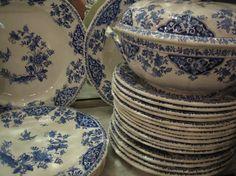 Gien - Lambrequins de Rouen Artisan, France, Plates, Tableware, Crystals, Pelmet Box, Cuppa Tea, Porcelain, Licence Plates