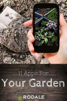 Give your green thumb a boost with gardening at your fingertips using these awesome apps for your garden. #landscaping