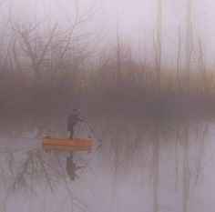 Mysterious Undertaker Riding A Coffin Appears On Australian Lake Creepy Pictures, Foggy Morning, Undertaker, Coffin, Mysterious, Mists, Random Stuff, Photograph, Australia