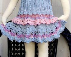 crochet toddler skirt1 400x321 100 Unique Crochet Skirts