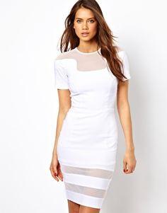 Hybrid Dress with Mesh Inserts