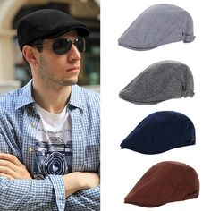487691042145e Unisex Men Women Cotton Cap Golf Adjustable Driving Cabbie Beret Hat  Newsboy New  Unbranded