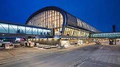 Completed in 2017 in Oslo, Norway. Images by Ivan Brodey, Dag Spant, Knut Ramstad. Designed by Oslo-based practice Nordic-Office of Architecture, the sqm expansion to Oslo Airport sets new standards in sustainability. Airport Architecture, Green Architecture, Architecture Photo, Futuristic Architecture, O Terminal, Terminal Velocity, Oslo Airport, Airport Design, Sustainable City