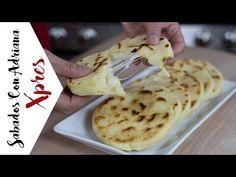 Arepas rellenas de queso - #SabadosconadrianaXpres - YouTube Tapas, Queso Mozzarella, Spanish Food, Enchiladas, Waffles, Ethnic Recipes, Youtube, Lunch Ideas, Stuffed Chicken