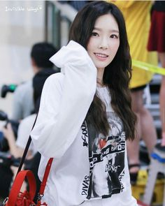 SNSD TaeYeon - Gimpo Airport Arrival ❤ SNSD ❤ Kim TaeYeon ♡ 김태연 ♡