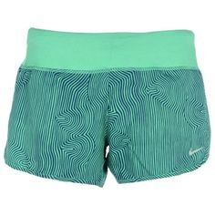 Nike Shorts ($50) ❤ liked on Polyvore featuring activewear, activewear shorts, green, nike activewear, blue jersey, green jersey, logo sportswear and nike