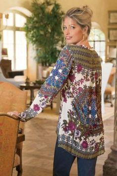 Paloma Tunic I from Soft Surroundings - Love because of the bright colors and its length and the way it flows.