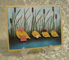 Stampin' Up!  Bird Punch  Lynn Pratt  Chicks