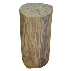 Reclaimed Solid Wood Tree Stump Tables by URBAN TREE SALVAGE.   Created from salvaged felled Toronto trees, these one of a kind log rounds are versatile pieces used for side tables, coffee tables and occasional seating.  Available in a variety of sizes and shapes, please visit our website for more information on our pieces at http://www.urbantreesalvage.com/shop/log-rounds