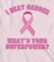 I Beat Cancer (Superpower) - Make a statement with this breast cancer awareness gift idea with a pink ribbon.