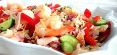 Thai Seafood Salad for Canada Day