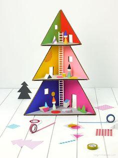 DIY Christmas Tree Dollhouses
