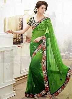 Fashion: Net Lehenga Style Wedding Sarees