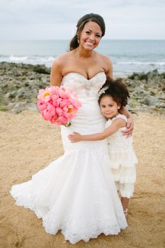 Bride and Flower Girl  | What A Day! Photography