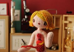 Anatomical Female A (hine) Tags: show nyc art girl museum toy doll geek puppet handmade craft felt science exhibition retro naturalhistory plush softie anatomy needlefelt hine nuigurumi galleryhanahou