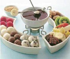 fondue de chocolate acompañamiento - Buscar con Google