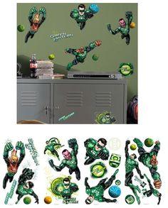 Green Lantern Wall Decals - Wall Sticker Outlet