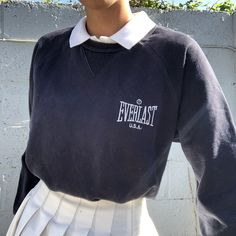 Can be worn tucked in or rolled up for a cropped look. Can also be worn down with a tennis skirt and polo top as I have it styled. Indie Outfits, Adrette Outfits, Skater Girl Outfits, Teen Fashion Outfits, Retro Outfits, Cute Casual Outfits, Winter Outfits, Vintage Outfits, Grunge Outfits