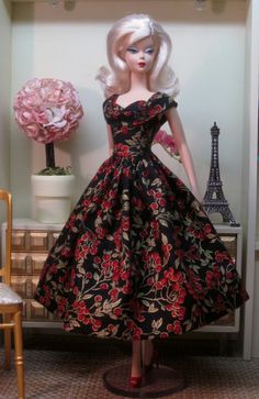 Rockabilly Dress in Holiday Berries by Bellissimacouture on Etsy