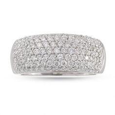 Pave diamond Anniversary ring