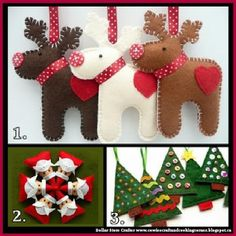 Dollar Store Crafter: 3 Felt Christmas Ornaments