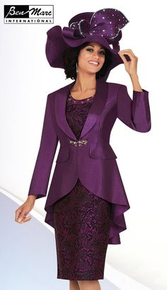 cfa5c5e61e5 Ben Marc 47624 Womens Brocade Church Suit - Two piece women s brocade  jacket dress features a 36 inch jacket and 42 inch dress. Feel majestic in  this classy ...