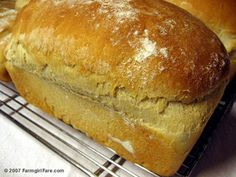 Farmhouse White: An Easy Basic White Sandwich Bread Recipe---The perfect bread for beginning bread bakers