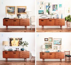 Mid-Century Modern Credenza. First look and inspiration for styling it! http://studiostyleblog.com/2015/05/26/mid-century-modern-credenza/